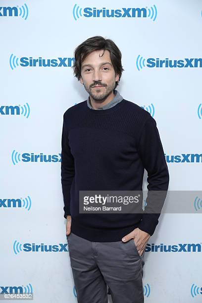 Actor Diego Luna attends SiriusXM's Town Hall With The Cast Of 'Rogue One A Star Wars Story' Town Hall to air on SiriusM's Entertainment Weekly Radio...