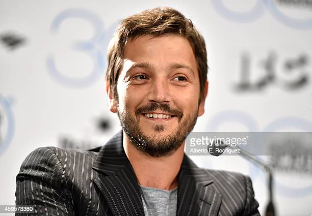 Actor Diego Luna attends the 30th Film Independent Spirit Awards Nominations press conference at W Hollywood on November 25 2014 in Hollywood...