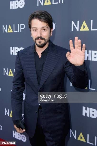 Actor Chelsea Rendon and Lawrence Arthur attend the NALIP 2018 Latino Media Awards at The Ray Dolby Ballroom at Hollywood Highland Center on June 23...