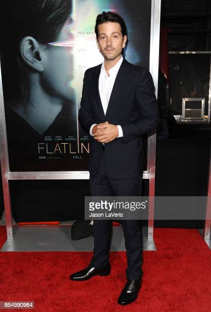 Actor Diego Luna attends the premiere of Flatliners at The Theatre at Ace Hotel on September 27 2017 in Los Angeles California
