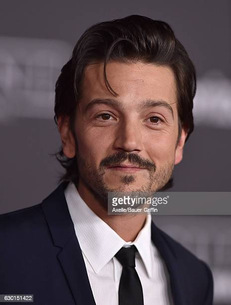 Actor Diego Luna attends the premiere of 'Rogue One A Star Wars Story' at the Pantages Theatre on December 10 2016 in Hollywood California