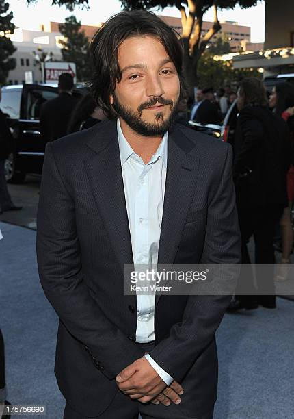 Actor Diego Luna attends the premiere of TriStar Pictures' Elysium at Regency Village Theatre on August 7 2013 in Westwood California