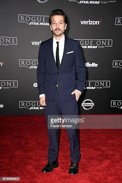 Actor Diego Luna attends the premiere of Walt Disney Pictures and Lucasfilm's Rogue One A Star Wars Story at the Pantages Theatre on December 10 2016...