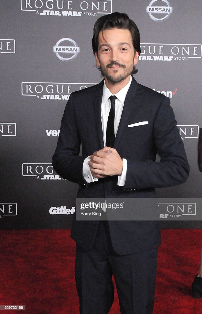 Actor Diego Luna attends the premiere of Walt Disney Pictures and Lucasfilms' 'Rogue One: A Star Wars Story' at the Pantages Theatre on December 10, 2016 in Hollywood, California.