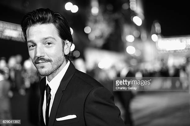 Actor Diego Luna attends The World Premiere of Lucasfilm's highly anticipated firstever standalone Star Wars adventure 'Rogue One A Star Wars Story'...