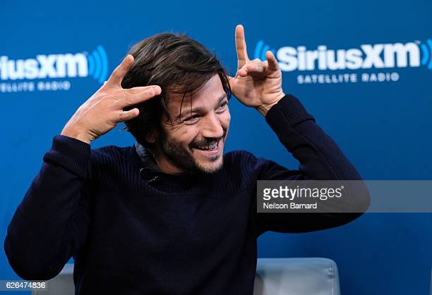 Actor Diego Luna speaks during SiriusXM's Town Hall With The Cast Of 'Rogue One A Star Wars Story' Town Hall to air on SiriusXM's Entertainment...