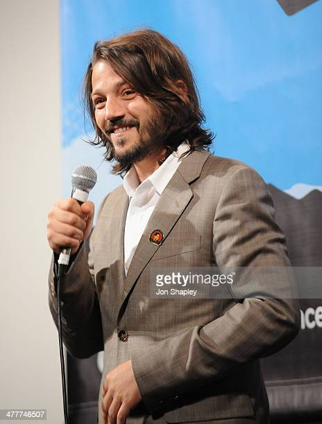 Actor Diego Luna speaks onstage at the 'CESAR CHAVEZ' QA during the 2014 SXSW Music Film Interactive Festival at Paramount Theatre on March 10 2014...