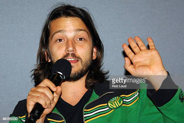 Actor Diego Luna visits the Apple Store Soho for the Meet the FilmMaker series on April 27 2009 in New York City
