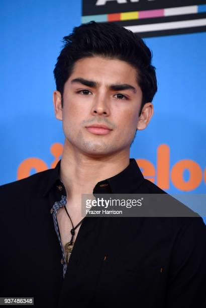 Actor Diego Tinoco attends Nickelodeon's 2018 Kids' Choice Awards at The Forum on March 24, 2018 in Inglewood, California.