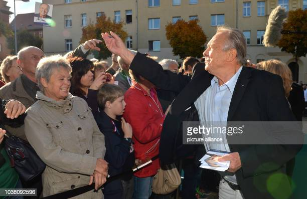 Actor Dieter Bellmann attends the fan festival of the ARD television series 'In aller Freundschaft' to mark its 15th anniversary in Leipzig, Germany,...