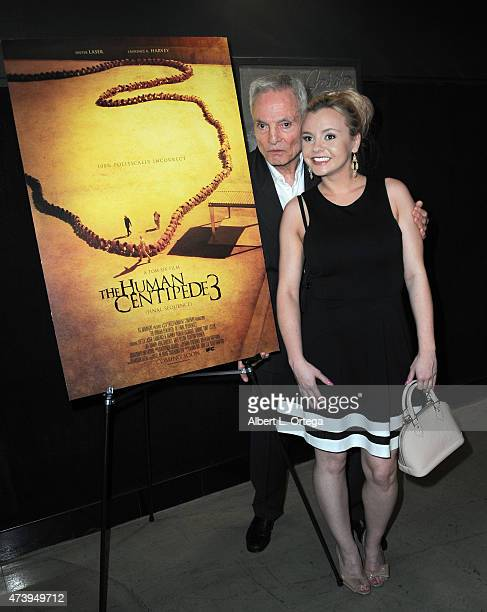 Actor Dieter Laser and actress Bree Olson arrive for the Premiere Of IFC Midnight's The Human Centepede 3 held at TCL Chinese 6 Theatres on May 18...