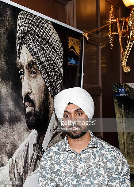Actor Diljit Dosanjh attends the global launch of 'Punjab 1984' at Royal King Palace on June 11 2014 in Surrey Canada