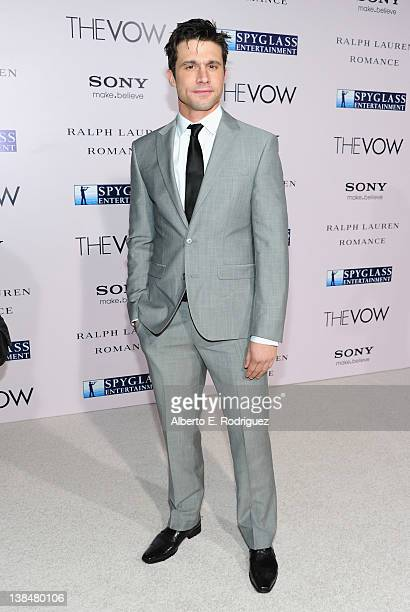 Actor Dillon Casey attends the premiere of Sony Pictures' 'The Vow' at Grauman's Chinese Theatre on February 6 2012 in Hollywood California