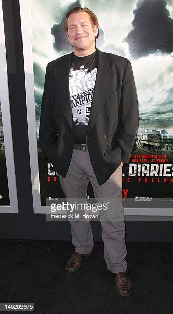 Actor Dimitri Diachenko the Screening of Warner Bros Chernobyl Diaries at the Cinerama Dome on May 23 2012 in Hollywood California
