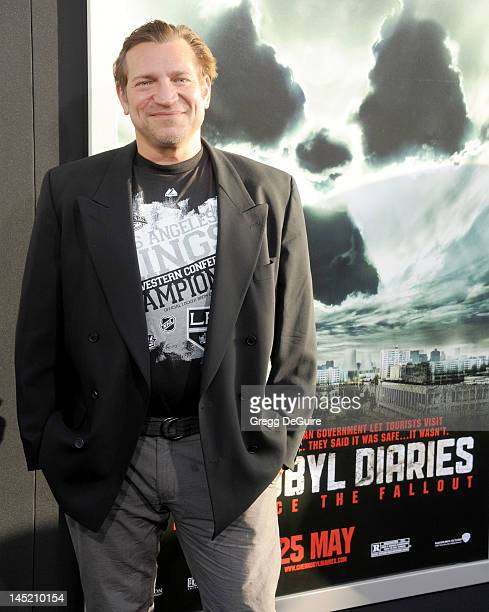 Actor Dimitri Diatchenko arrives at Chernobyl Diaries special fan screening at ArcLight Cinemas Cinerama Dome on May 23 2012 in Hollywood California