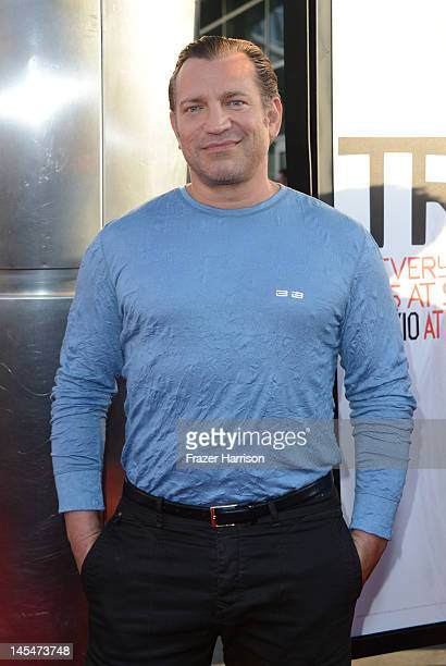 Actor Dimitri Diatchenko arrives at the Premiere of HBO's True Blood 5th Season at ArcLight Cinemas Cinerama Dome on May 30 2012 in Hollywood...