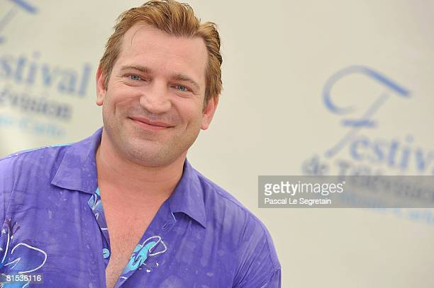 Actor Dimitri Diatchenko attends a photocall promoting the television series Indiana Jones on the fifth day of the 2008 Monte Carlo Television...