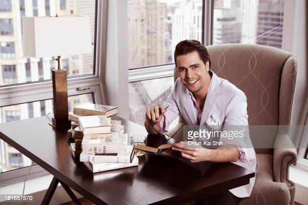 Actor Diogo Morgado is photographed for August Man on March 28 2013 in New York City