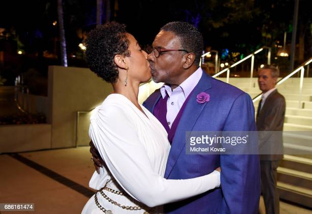 Actor Dionne Lea Williams and actor/singer/comedian Keith David at the Center Theatre Group 50th Anniversary Celebration at Ahmanson Theatre on May...