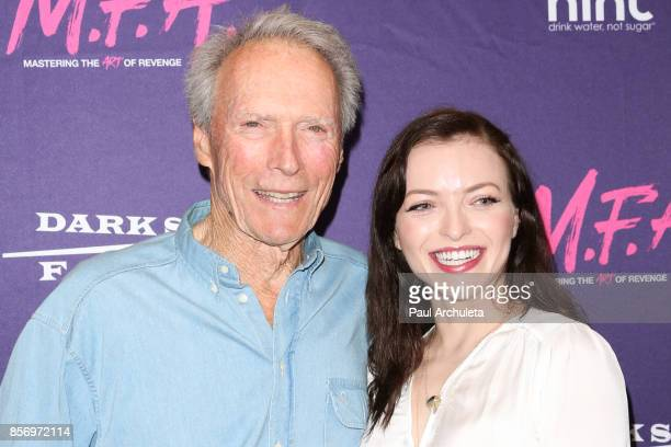 Actor / Director Clint Eastwood and Actress Francesca Eastwood attend the premiere of Dark Sky Films' 'MFA' at The London West Hollywood on October 2...