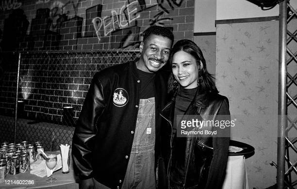 Actor director comedian and writer Robert Townsend and his wife Cheri Jones poses for photos at the Soul Train Awards Sprite Night Party at the...