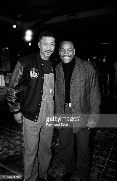 Actor director comedian and writer Robert Townsend and radio deejay television and movie personality Donnie Simpson poses for photos at the Soul...