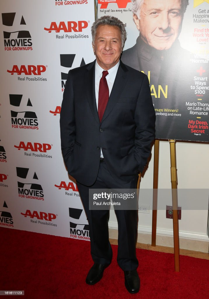 Actor / Director Dustin Hoffman attends the AARP Magazine's 12th annual Movies For Grownups Awards luncheon at the Peninsula Hotel on February 12, 2013 in Beverly Hills, California.