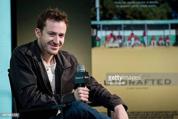 Actor/ Director Joseph Mazzello discusses Undrafted during AOL Build at AOL HQ on July 14 2016 in New York City