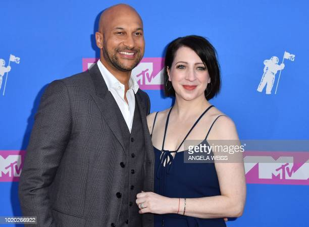 Actor director KeeganMichael Key and his wife actress Elisa Key attend the 2018 MTV Video Music Awards at Radio City Music Hall on August 20 2018 in...