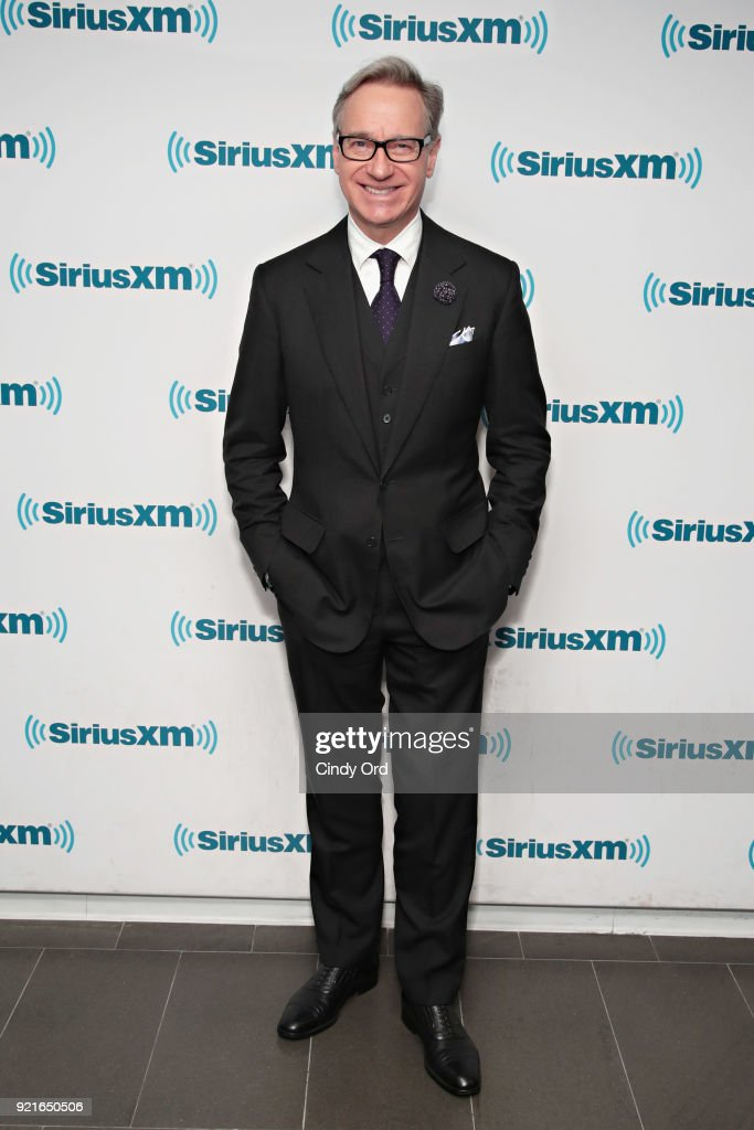 Actor/ director Paul Feig visits the SiriusXM Studios on February 20, 2018 in New York City.