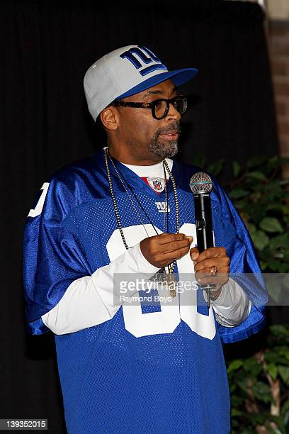 Actor director producer and screen writer Spike Lee speaks to students at Chicago State University during Black History Month in Chicago Illinois on...