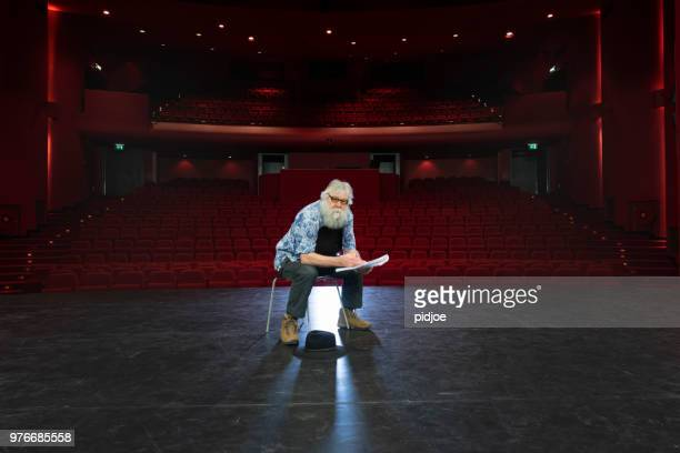 actor, director rehearsal in theatre - rehearsal stock pictures, royalty-free photos & images