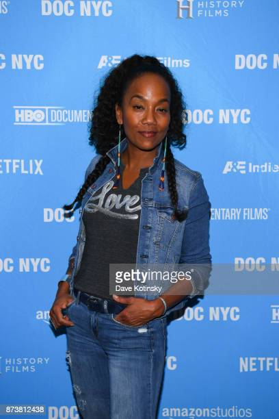 Actor / Director Sonja Sohn arrives at the DOC NYC screening of the HBO Documentary Film BALTIMORE RISING on November 13 2017 in New York City