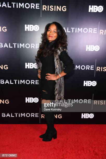 Actor / Director Sonja Sohn arrives at the premiere of HBO Documentary Baltimore Rising on November 16 2017 in Baltimore Maryland