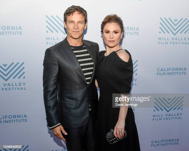 Actor Director Stephen Moyer and Actress Anna Paquin attend the Premiere of The Parting Glass at the 41st Mill Valley Film Festival at Sequoia...