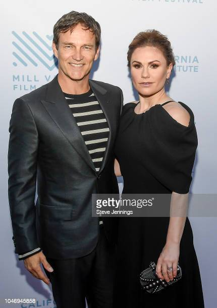 Actor Director Stephen Moyer and Actress Anna Paquin attend the Premiere of 'The Parting Glass' at the 41st Mill Valley Film Festival at Sequoia...