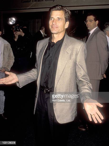 Actor Dirk Benedict attends The Cocktail Party Opening Night Performance on April 19 1990 at James A Doolittle Theatre in Hollywood California