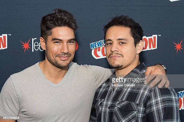 Actor DJ Cotrona and Jesse Garcia pose in the press room for Marvel's 'From Dusk till Dawn The Series' during New York ComicCon Day 3 at The Jacob K...