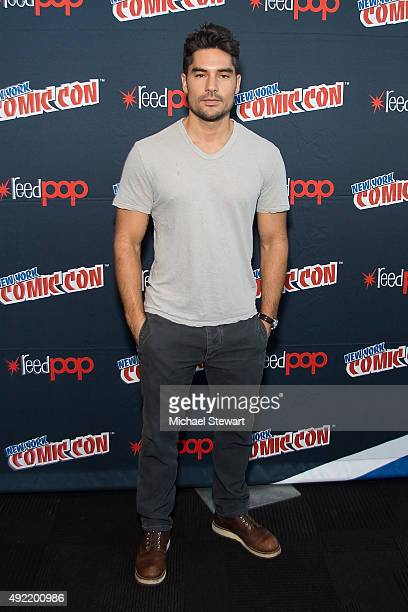 Actor DJ Cotrona poses in the press room for Marvel's 'From Dusk till Dawn The Series' during New York ComicCon Day 3 at The Jacob K Javits...