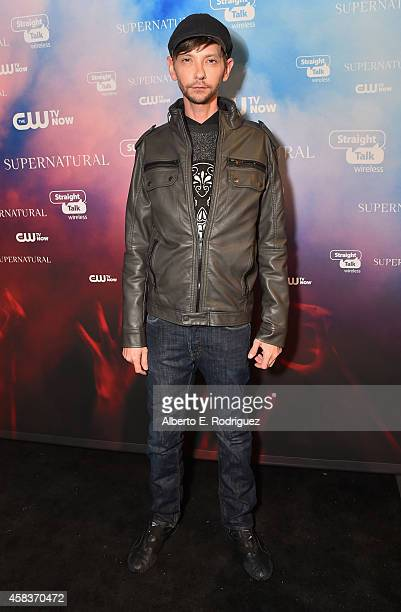 Actor DJ Qualls attends the CW's Fan Party to Celebrate the 200th episode of 'Supernatural' on November 3 2014 in Los Angeles California