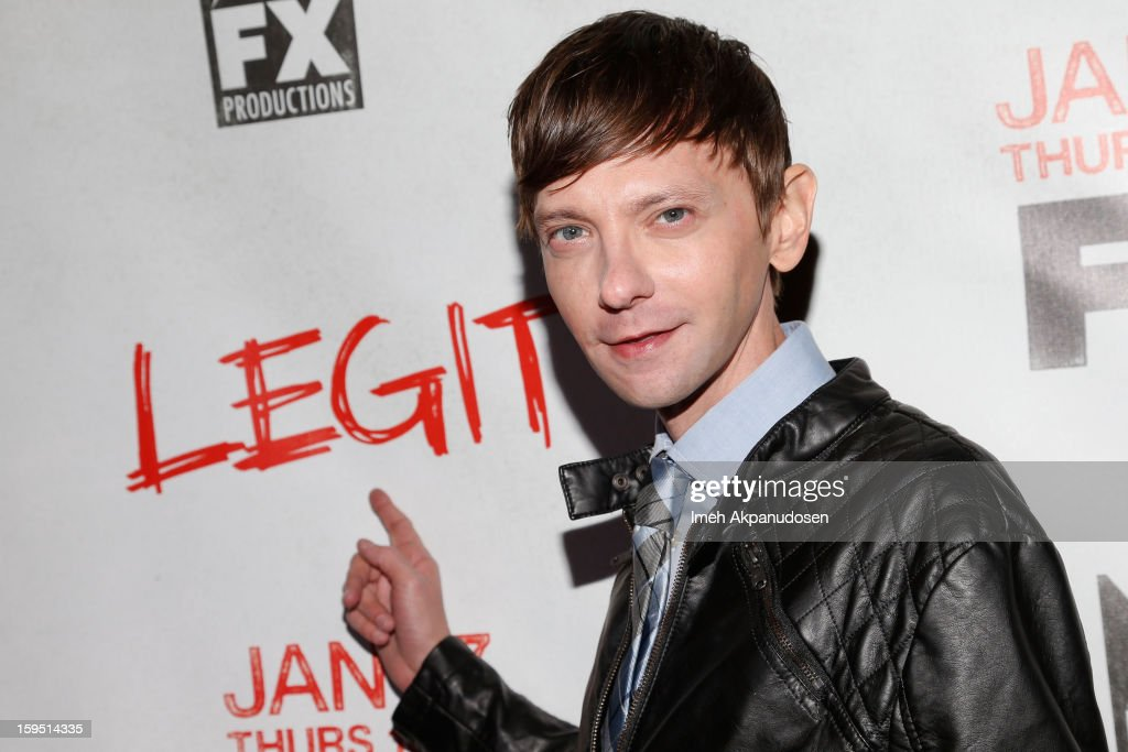 Actor DJ Qualls attends the screening of FX's new comedy series 'Legit' on January 14, 2013 in Los Angeles, California.