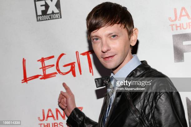 Actor DJ Qualls attends the screening of FX's new comedy series 'Legit' on January 14 2013 in Los Angeles California