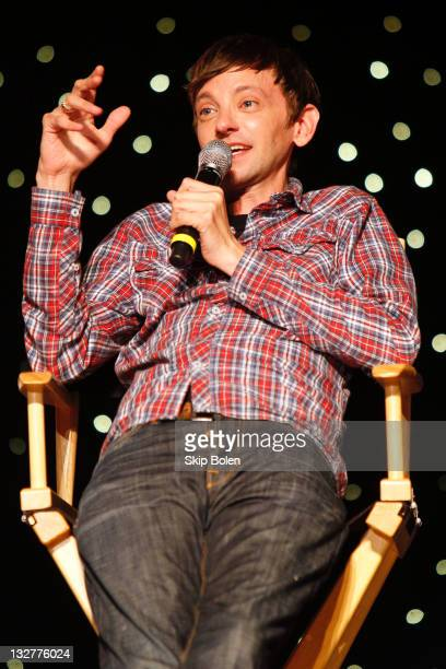Actor DJ Qualls of the TNT show Memphis Beat speaks onstage during a VIP screening at the TNT 2011 Essence Festival Day 2 on July 2 2011 in New...
