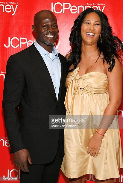 """Actor Djimon Hounson and Fashion Designer Kimora Lee Simmons attends """"Style Your Spring"""" presented by J.C. Penney at Espace on February 10, 2009 in..."""