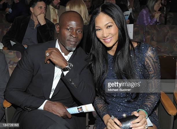 Actor Djimon Hounsou and Kimora Lee Simmons attend the 3rd Annual 'Change Begins Within' Benefit Celebration presented by The David Lynch Foundation...