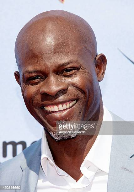 Actor Djimon Hounsou arrives at the Los Angeles premiere of 'How To Train Your Dragon 2' at the Regency Village Theatre on June 8 2014 in Westwood...