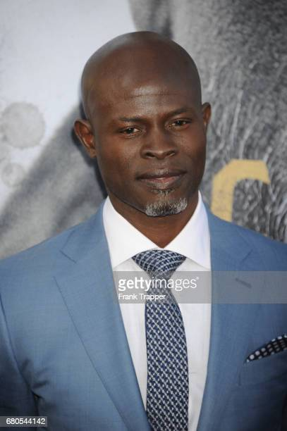 Actor Djimon Hounsou arrives at the premiere of Warner Bros Pictures' King Arthur Legend Of The Sword at TCL Chinese Theatre on May 8 2017 in...