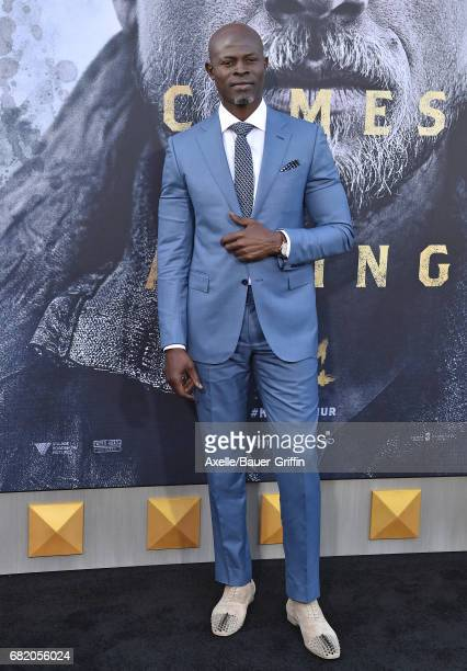Actor Djimon Hounsou arrives at the premiere of Warner Bros Pictures' 'King Arthur Legend of the Sword' at TCL Chinese Theatre on May 8 2017 in...