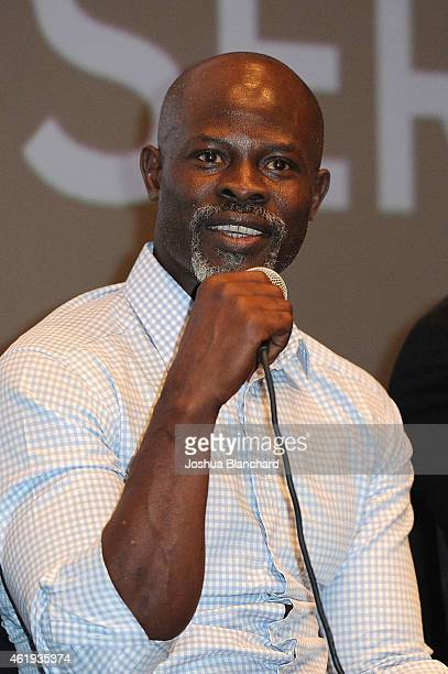 Actor Djimon Hounsou attends Awardsline/Deadline Hollywood screening of DreamWorks' 'How to Train Your Dragon 2' at Landmark Theatre on January 21...