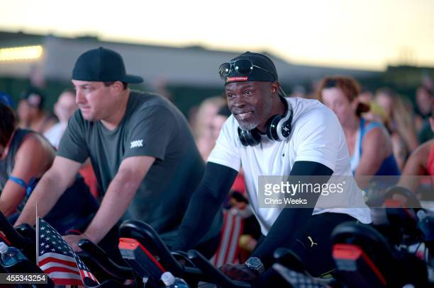 Actor Djimon Hounsou attends Cycle For Heroes at The Santa Monica Pier to benefit The Heroes Project at Santa Monica Pier on September 12 2014 in...